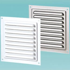 Приточно-вытяжные решетки металлические однорядные серий МВМ, МВМП